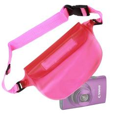 DURAGADGET Pink Digital Camera Waterproof Waist Bag/Dry Case
