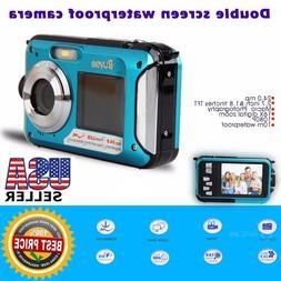 Portable Waterproof Camera 16x Digital Zoom HD 24MP Dive Vid