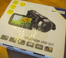 Powerlead Video Camcorder Night-shot 3.0 inch 1080P FHD 24MP