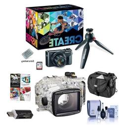 Canon PowerShot G7 X Mark II Video Creator Kit - Bundle WP-D