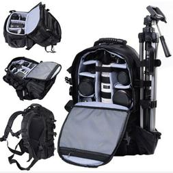Professional Large DSLR Case Camera Backpack Adjustable Lens