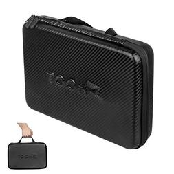 D&F PU Waterproof Carrying Case Storage Bag Protective Shock
