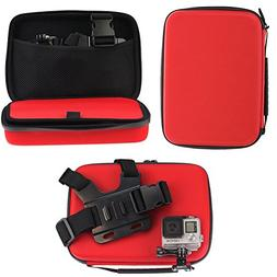 Navitech Red Shock Proof Action camera Case / Cover For the