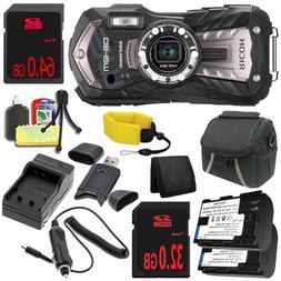 Ricoh WG-30W Digital Camera  + LI-50B Replacement Lithium Io