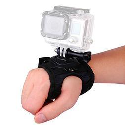 VVHOOY 360 Degree Rotation Glove Style Band Wrist Strap Moun