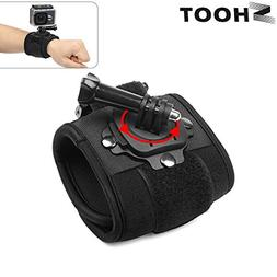 T.Face 360 Degree Rotation Hand Wrist Strap for GoPro Hero 5