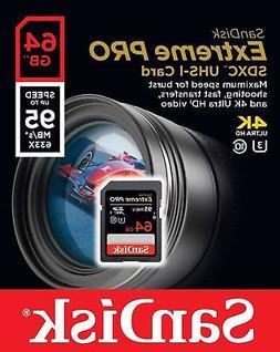 sandisk extreme pro 64gb sdxc uhs i memory card