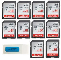 SanDisk Ultra 16GB  Class 10 SDHC Genuine Flash Memory Card