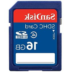 SanDisk 16GB SD HC memory card -