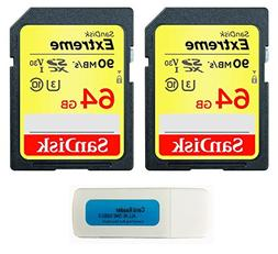 SanDisk Extreme 64GB  SDXC UHS-I Card SDSDXVE-064G-GNCIN wit
