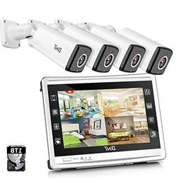 "BNT 4Channel Security Camera System 1080P 11"" HD Monitor DVR"