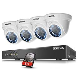 ANNKE 1080P Outdoor Security Camera System Including 4 Chann