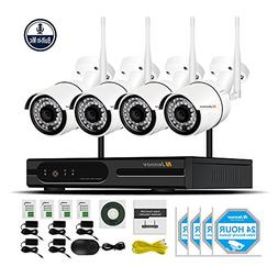 Jennov Security Camera System Wireless, 4 Channel 1080P Wire