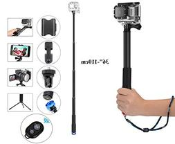 Legazone Selfie Stick Extendable Monopod with Tripod Stand f