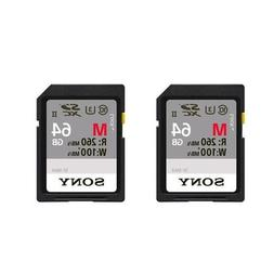 Sony 64GB SF-M Series UHS-II U3 Class 10 SDXC Memory Card, M