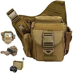 Camera Bag, Qcute Tactical Bag, Shoulder Messenger Bag, Wate