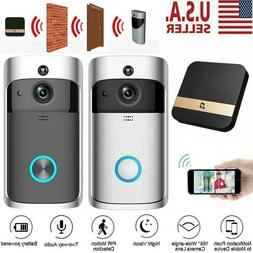 Smart Wireless WiFi Doorbell Security IR Visual Camera Inter