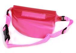 DURAGADGET Soft Pink Waterproof Zip Tight Waist Bag/Dry Camc