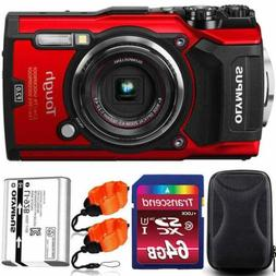 Olympus Stylus Tough TG-5 Waterproof Digital Camera Red With