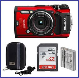 Olympus Stylus TOUGH TG-5 Digital Camera  Bundle includes; 3