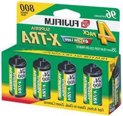 2 X Fujifilm Superia 800 Speed 24 Exposure 35mm Film - 4 Pac