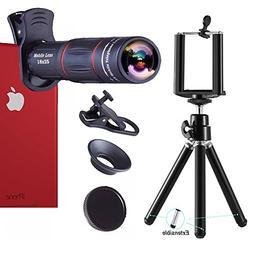 Telephoto Lens,18X Telephoto Zoom Lens Kit,Optical Camera Te