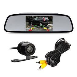 "4.3"" TFT LCD Car Rear View Mirror Monitor Kit + Waterproof M"