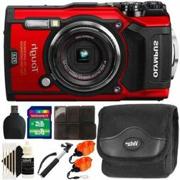 Olympus Tough TG-5 12MP Waterproof Digital Camera Red With A