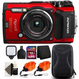 "Olympus Tough TG-5 Waterproof Digital Camera 3"" LCD, Red Wit"