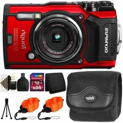Olympus Tough TG-5 Waterproof Digital Camera Red With Ultima