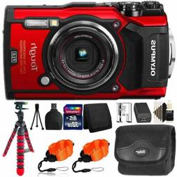 Olympus Tough TG-5 Waterproof Shockproof Digital Camera Red