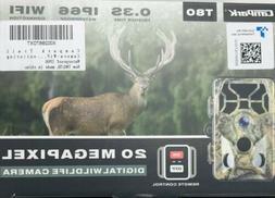Campark Trail Camera WiFi 20MP 1296P Hunting Game Camera Nig