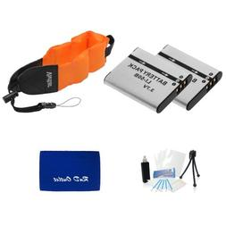 Two LI-50B Lithium Ion Replacement Battery w/ Waterproof Flo