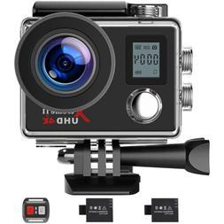 Campark Ultra HD 4K/1080P Waterproof Sports Camera WiFi Acti