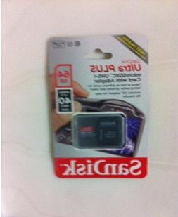 Sandisk 64gb Ultra Plus Microsdxc Uhs-1 Card with Adapter