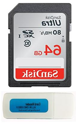 SanDisk 64GB Ultra SDXC Memory Card for Nikon Coolpix L340,