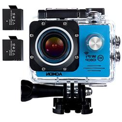 Aokon ASJ70 Action Camera 12MP 1080P HD WiFi 4X Zoom Waterpr