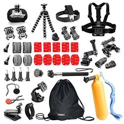 Underwater Action Camera Accessories Kit Bundle for Gopro He