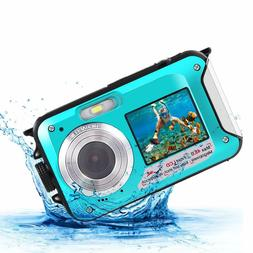 Underwater Digital Camera 2.7K 48MP Waterproof Camera for Sn