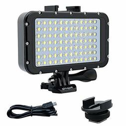 Suptig Underwater Lights Dive Light 84 LED High Power Dimmab