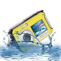 Underwater Digital Camera 24MP Waterproof Video Camcorder FU