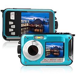 Underwater Camera 24.0MP Waterproof Digital Camera Full HD 1
