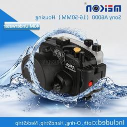 Meikon Underwater Waterproof Housing Case for Sony A6000 Cam
