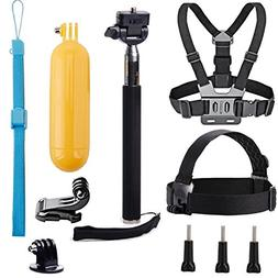 VVHOOY Universal Action Camera Accessories Bundle Kits Head
