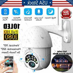 US 1080P HD IP CCTV Camera Waterproof Outdoor Wi-Fi PTZ Secu