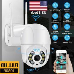US WiFi Camera IR-CUT HD IP Wireless 1080P CCTV Waterproof O