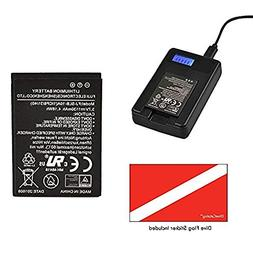 SeaLife USB Charger and Lithium-Ion Battery Set for DC2000 C