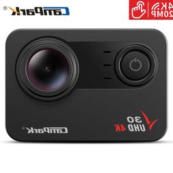 Campark V30 Native 4K Action Camera 20MP EIS Touch Screen Wi
