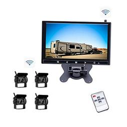 Vehicle Backup System 9 inch HD Monitor & 4 Wireless Rear Ca