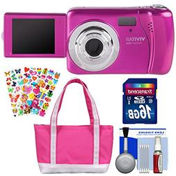 Vivitar ViviCam VXX14 Selfie Digital Camera  with 16GB Card